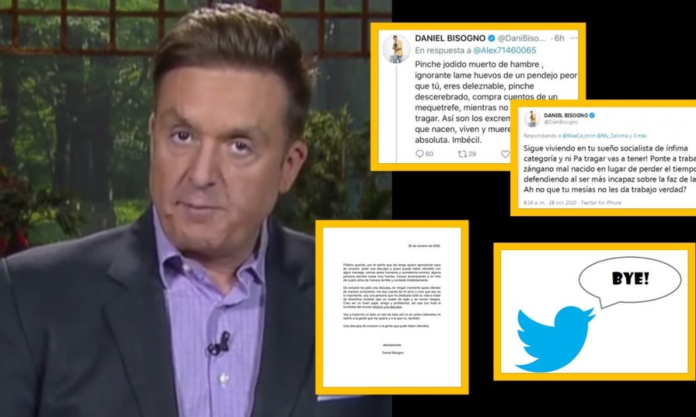 Tras insultar a seguidor de AMLO, Daniel Bisogno se disculpa y deja el Twitter – El gato político News