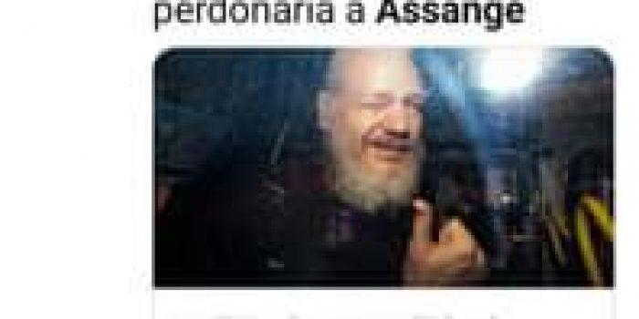 Image may contain: 2 people, text that says 'T Divulgación I.cor Divulgacion... 50min ULTIMO MINUTO: Se rumora que Trump perdonaría a Assange ULTIMO MINUTO: Se rumora que Trump pe... divulgaciontotal.com'