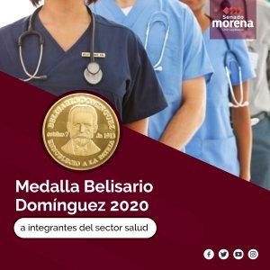 Medalla Belisario Domínguez a personal del sector salud.